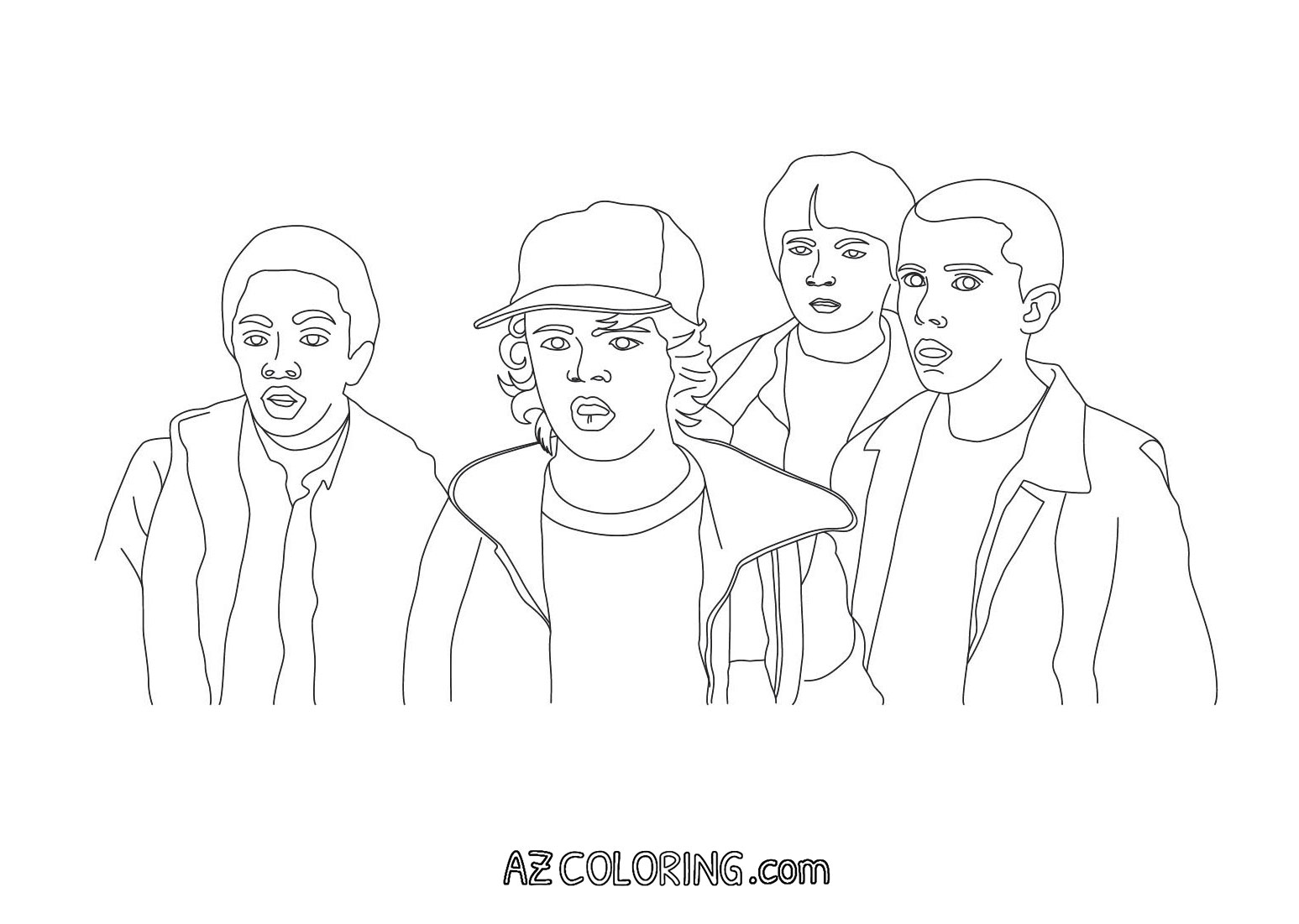 Stranger Things Coloring Page