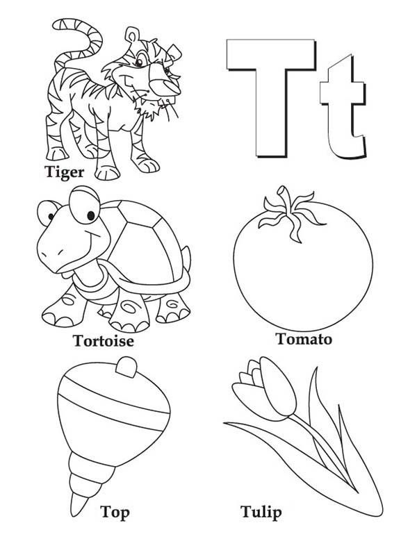 coloring pages letter t coloring