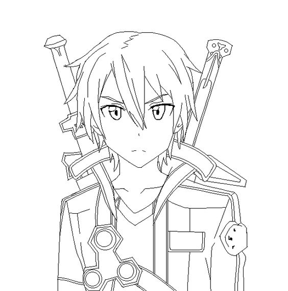 Sword art online coloring pages pintable coloring home for Online anime coloring pages