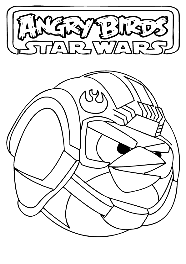 angry birds star wars coloring pages free printable coloring - Angry Birds Star Wars Coloring Pages