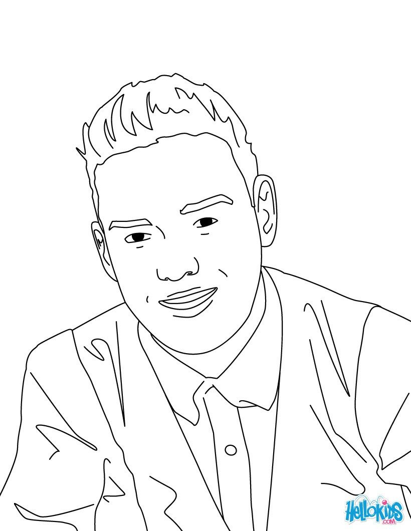 One Direction Coloring Pages - Coloring Home