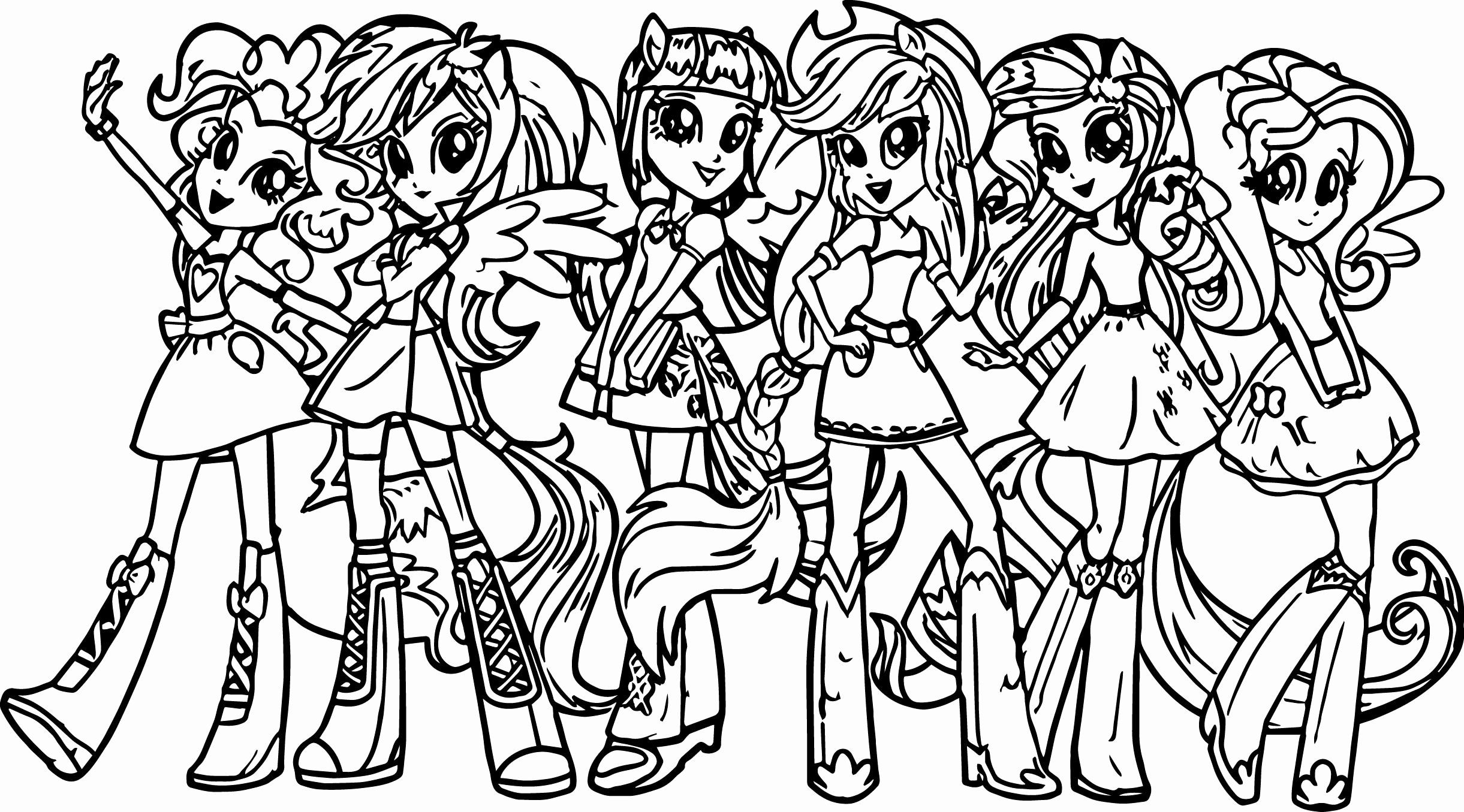 My Little Pony Coloring Book Elegant My Little Pony Human Coloring ...