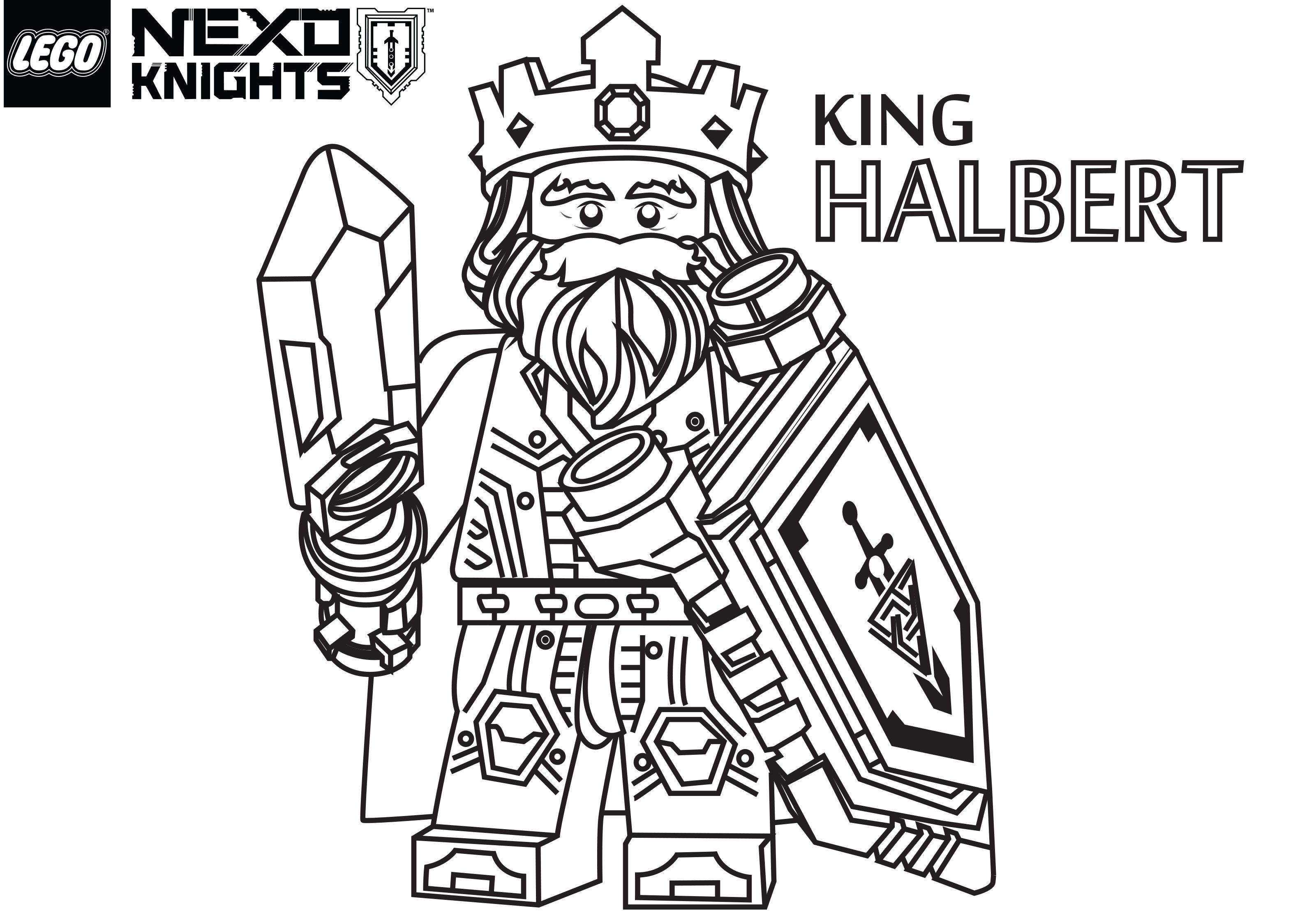 Lego Nexo Knights Coloring Pages : Nexo lego knights coloring pages sketch page