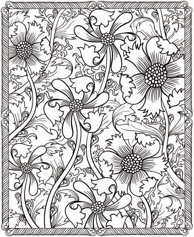 fractal coloring pages for kids and for adults