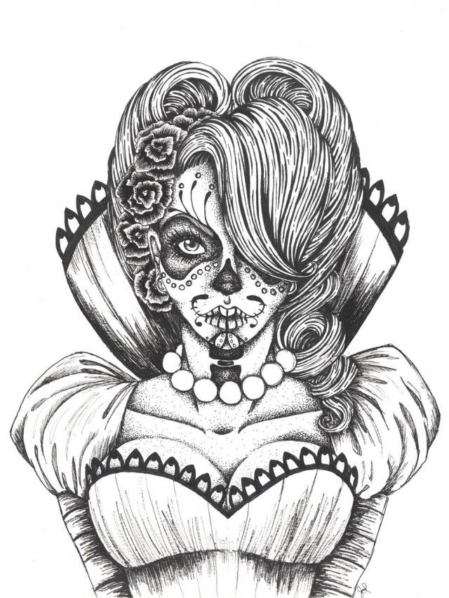 Sugar Skull Coloring Pages Pdf Free : Sugar skulls printable coloring pages for kids and