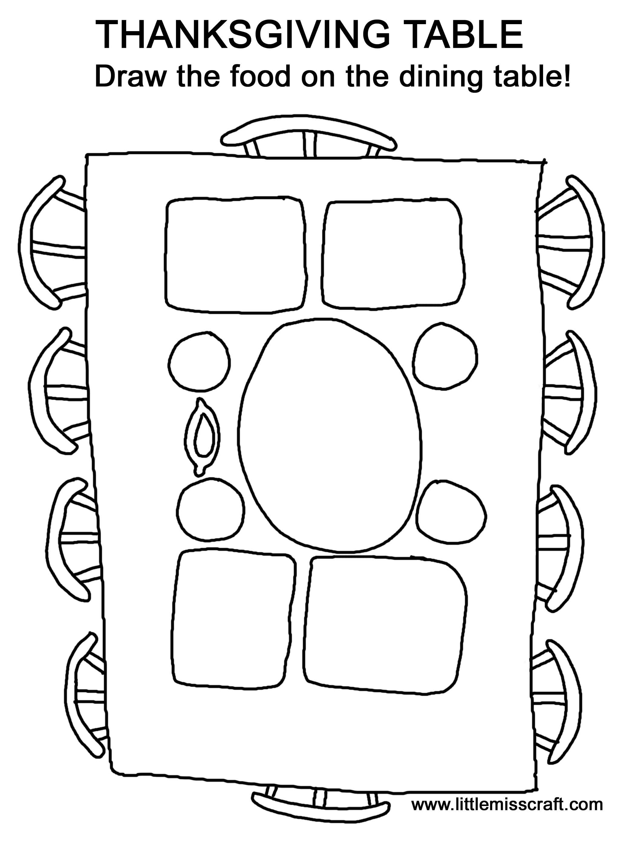 Thanksgiving Foods Coloring Pages Printables