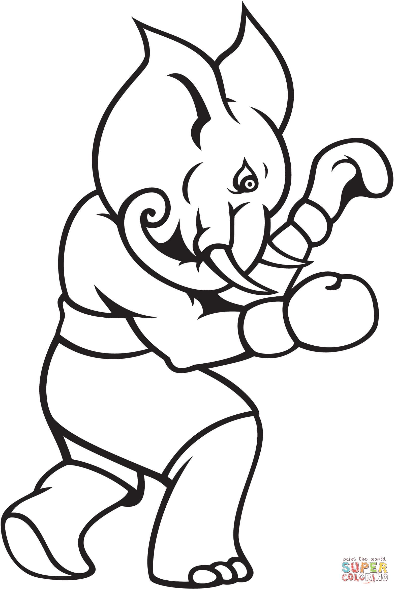 Boxing Coloring Pages - Kidsuki