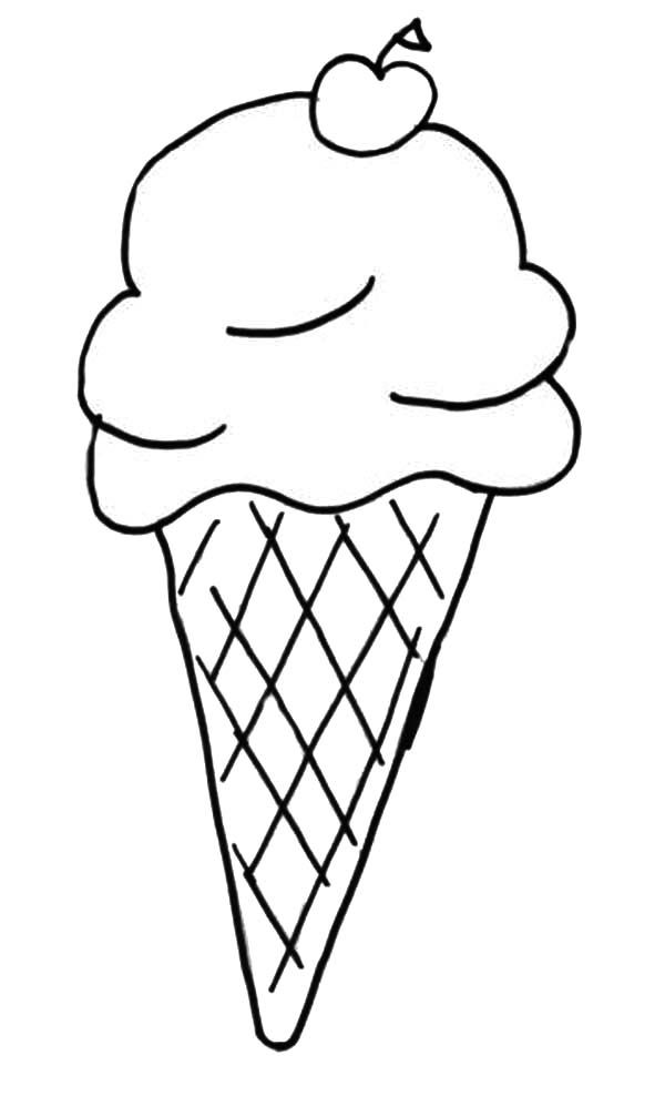 ice cream cone coloring pages - High Quality Coloring Pages
