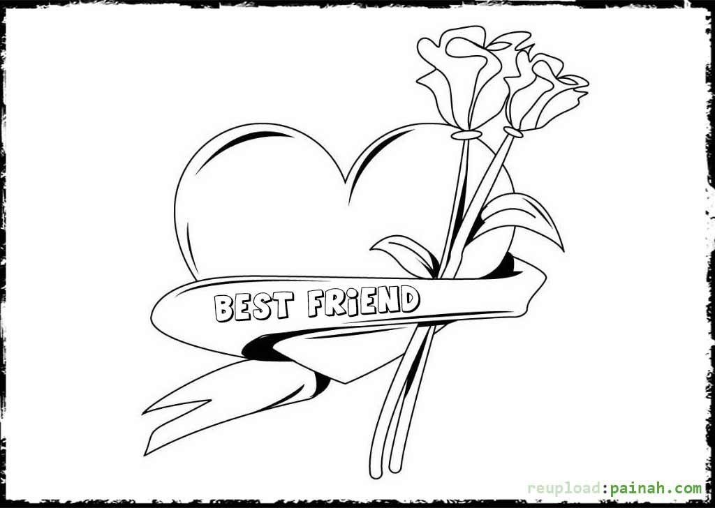 Best Friend Coloring Pages For Teenage Girls Coloring Pages For