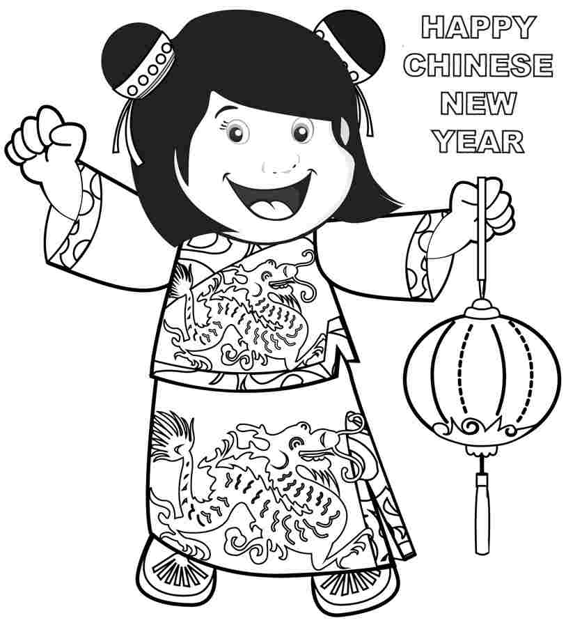 Chinese New Year Coloring Pages Zodiac