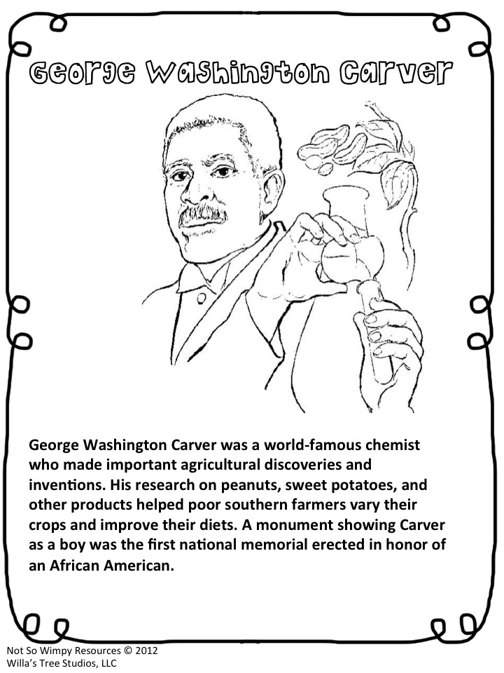 coloring pages george washington carver george washington carver