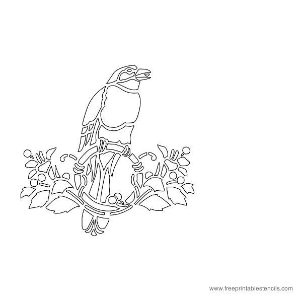 Printable Bird Stencils Parrots, Eagles, Heron, Pelican Birds ...