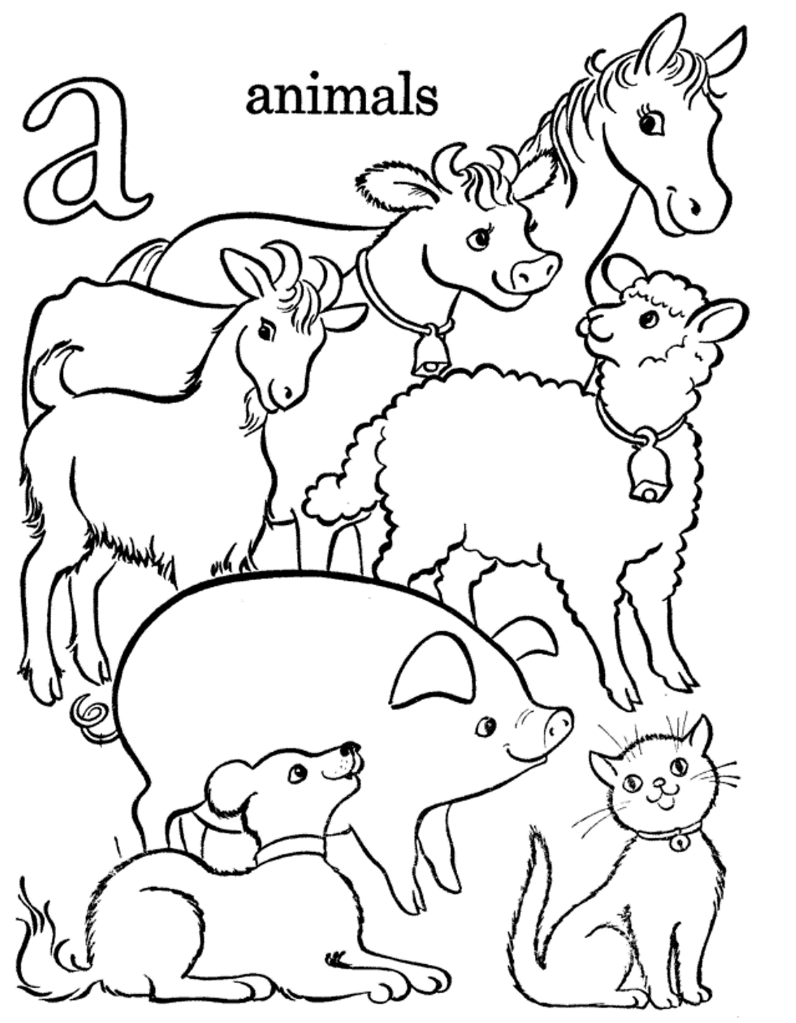 Coloring book pages farm animals - Printable Farm Animals Coloring Pages Farm Animal Color Pages Part