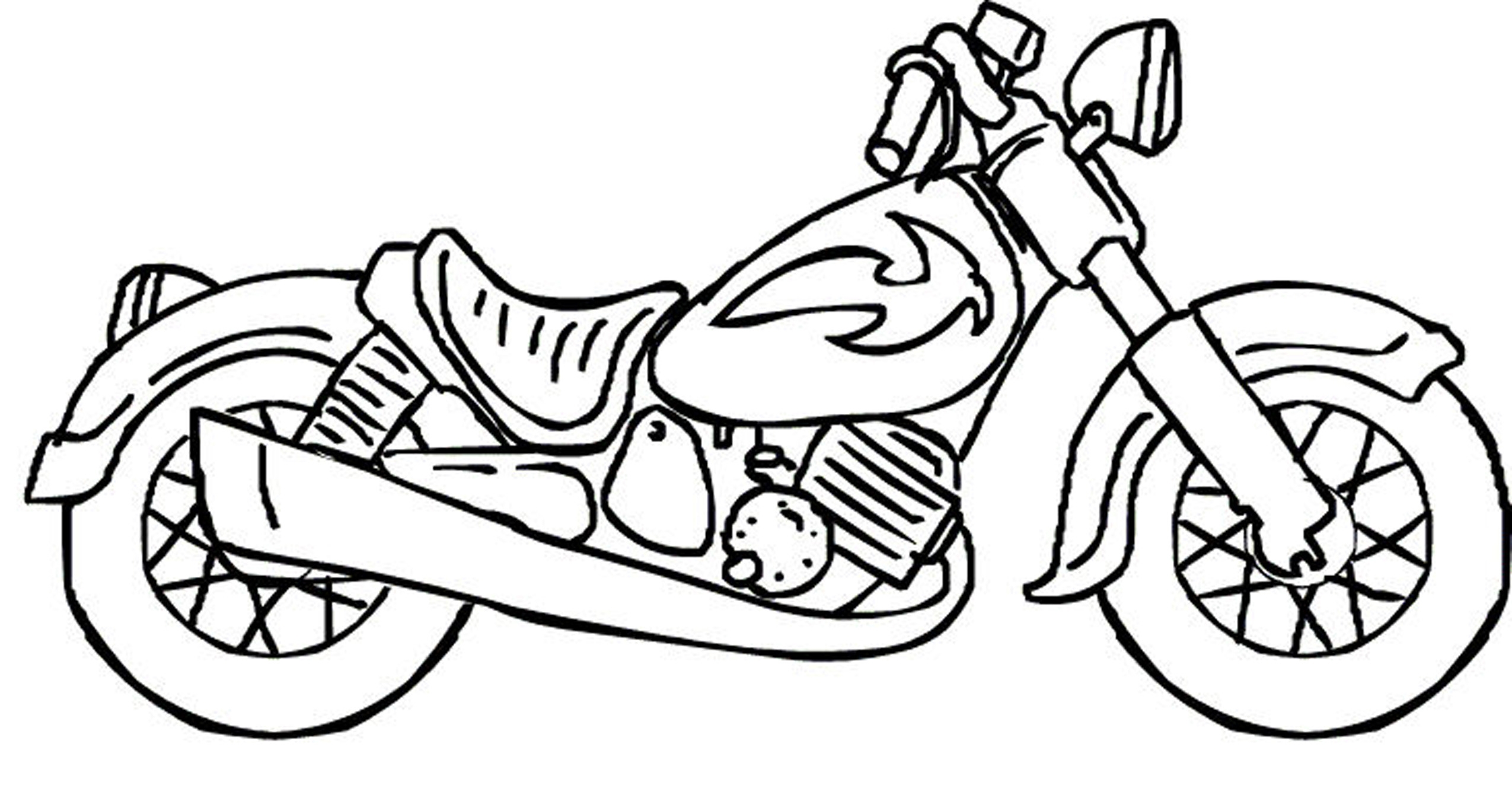 motorcycle coloring book pages - photo#39