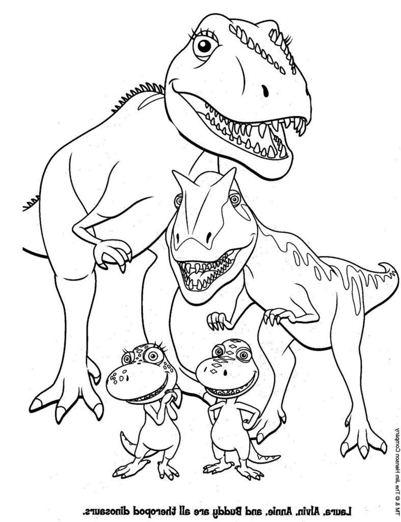 Top 35 Free Printable Unique Dinosaur Coloring Pages Online | 1024x787