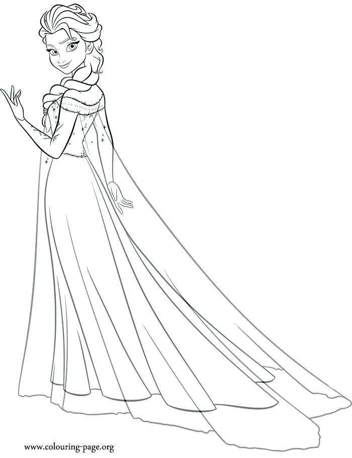 - Elsa Frozen Coloring Page At GetDrawings.com Free For - Coloring Home