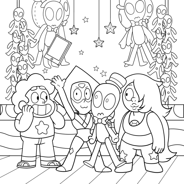 Steven Universe Adult Coloring Book Volume 1 TPB :: Profile ...