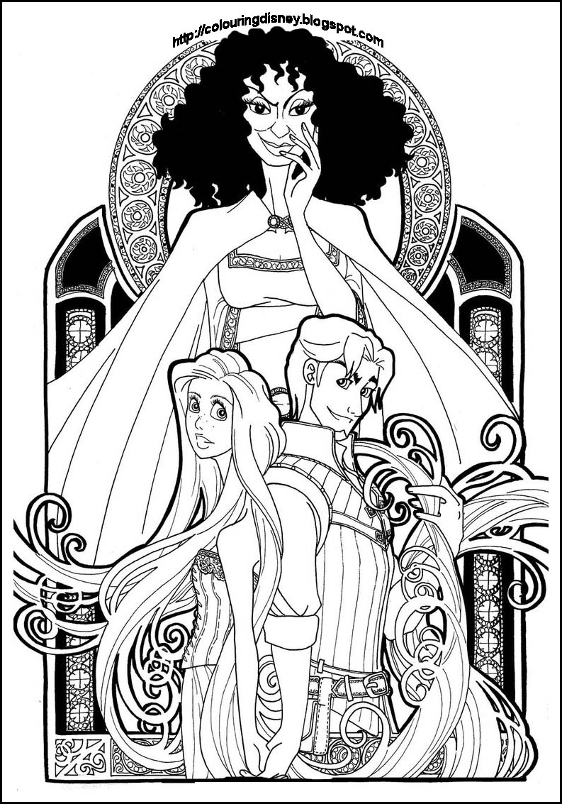 Beauty And The Beast Stained Glass Window Coloring Page Coloring