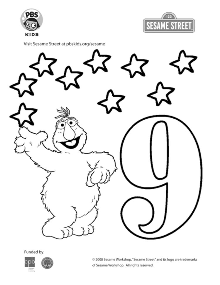Number 9 Coloring Pages - Coloring Home