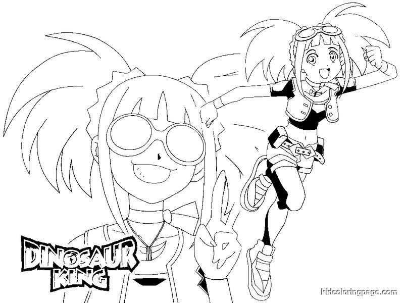 Dinosaur King Coloring Pages Page 1