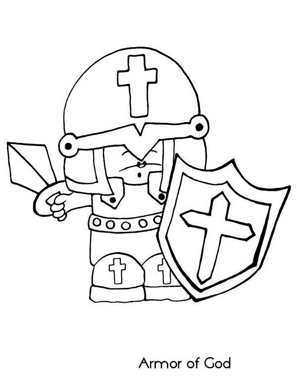 Chibi Armor of God Coloring Page: Chibi Armor of God Coloring Page ...