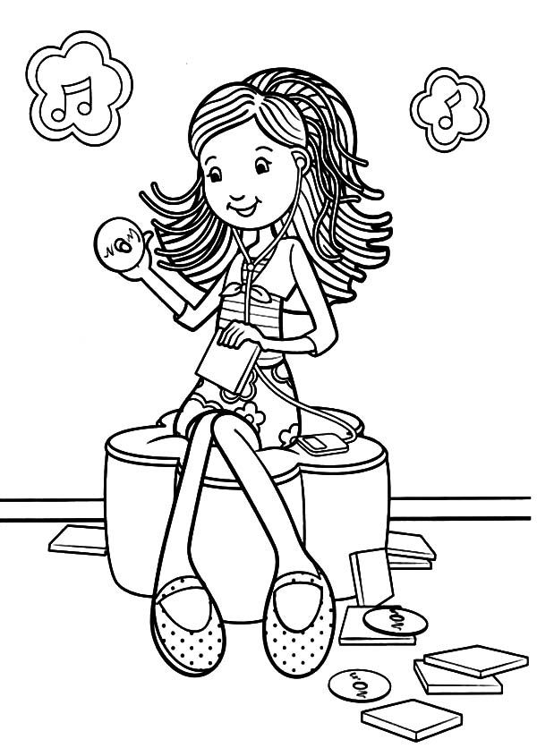 Groovy coloring pages coloring home for Listening coloring pages