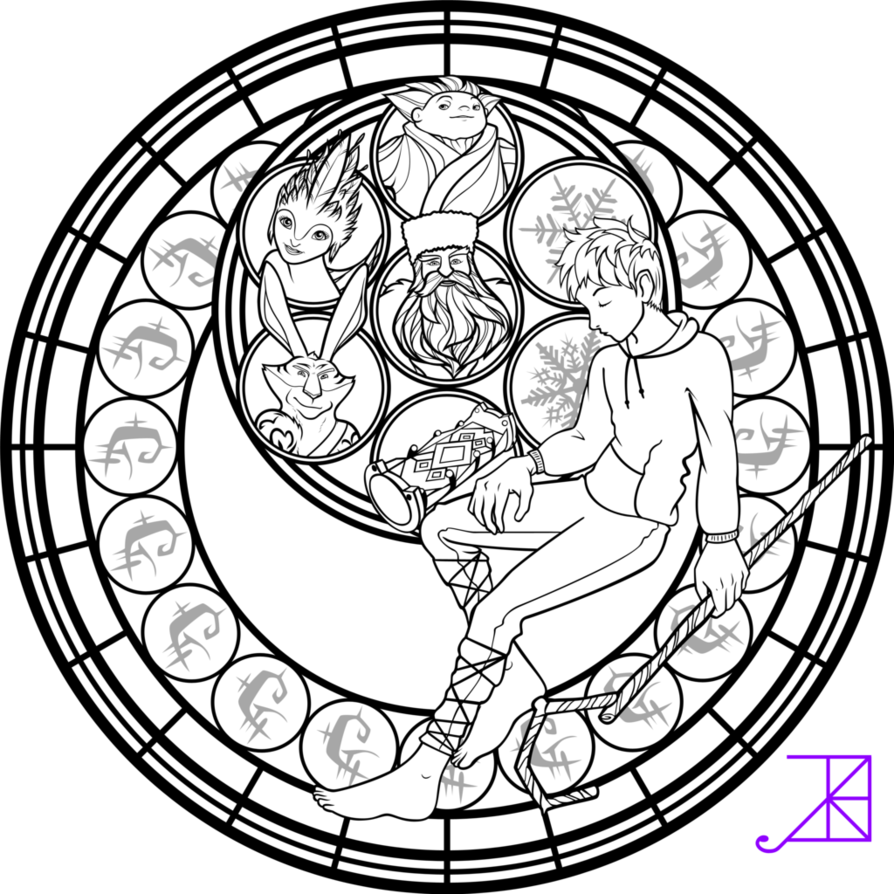 stain glass christmas coloring pages - photo#32