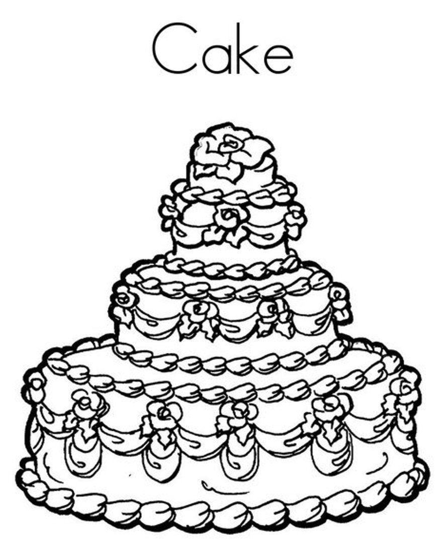 birthday cake coloring page - happy birthday cake coloring pages az coloring pages