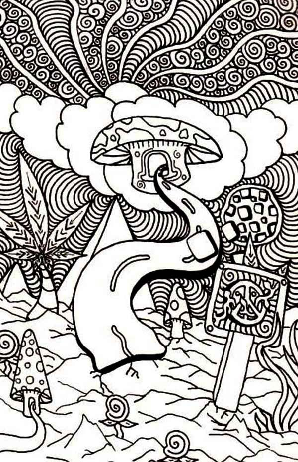 Trippy alice in wonderland coloring pages coloring home for Printable psychedelic coloring pages
