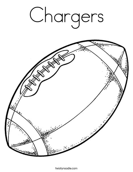 Chargers Coloring Page - Twisty Noodle