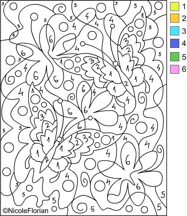color by number for adults only coloring pages