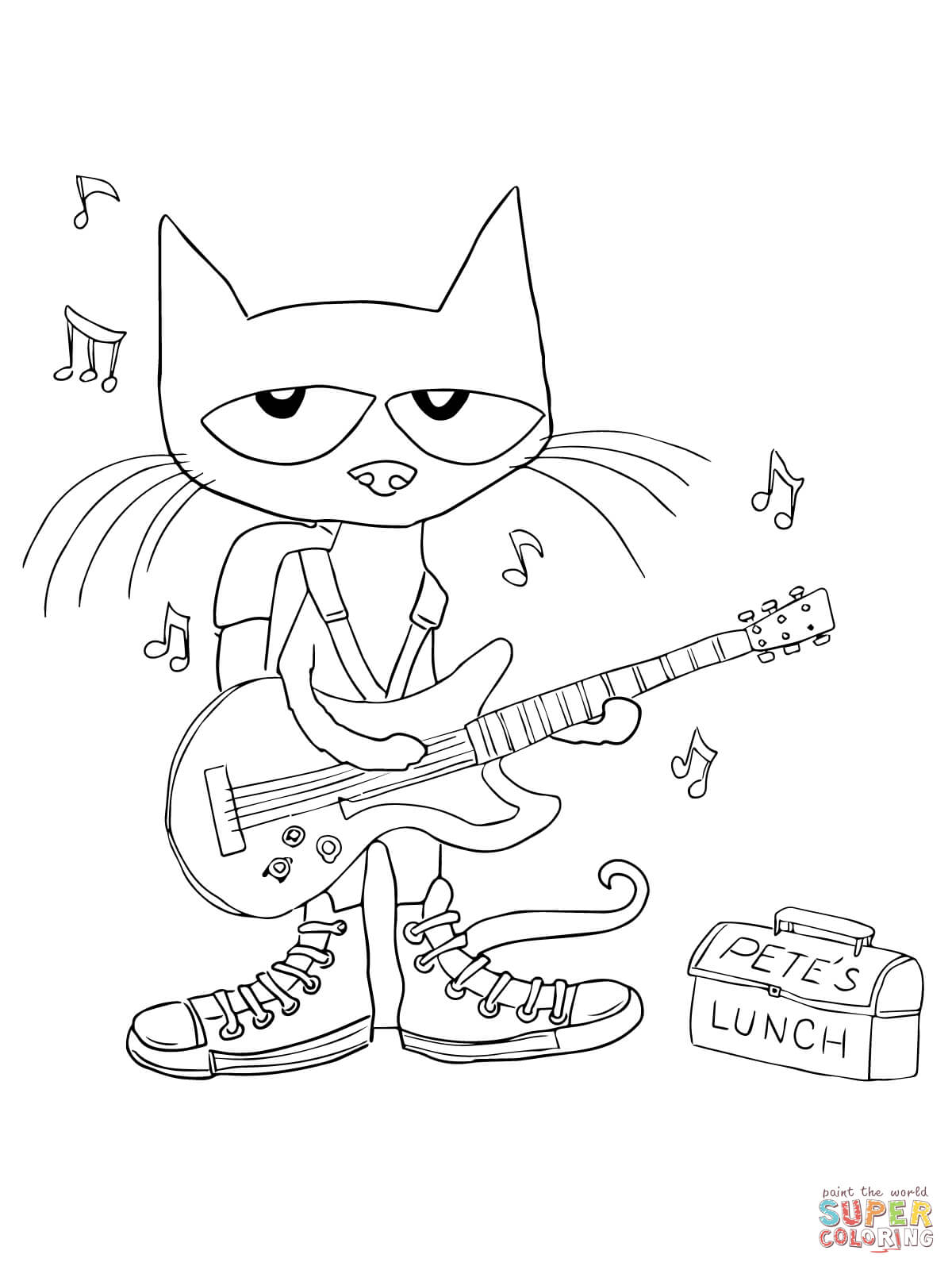 Pete the Cat coloring page | Free Printable Coloring Pages