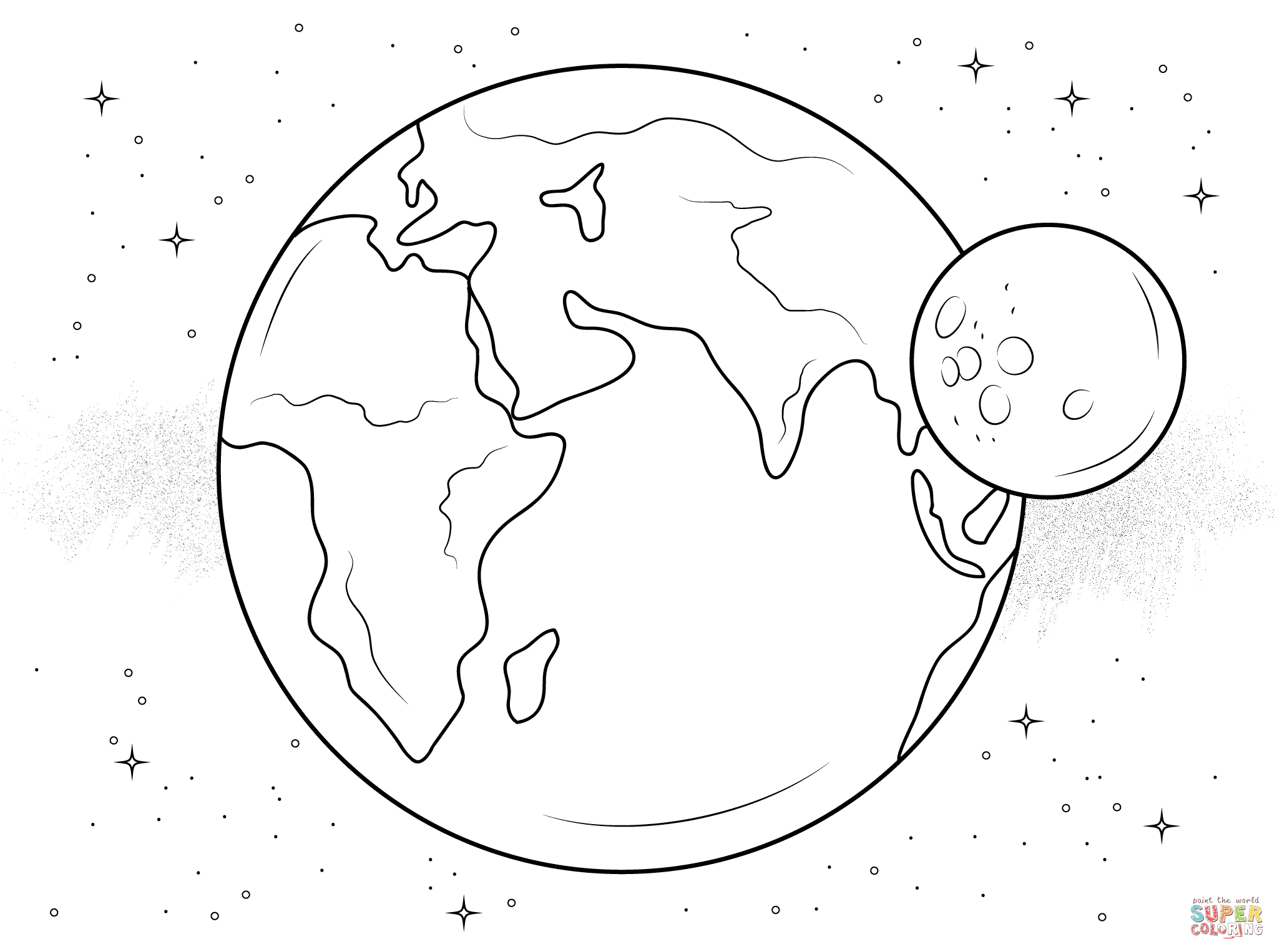 Moon Coloring Pages Printable - Coloring Home