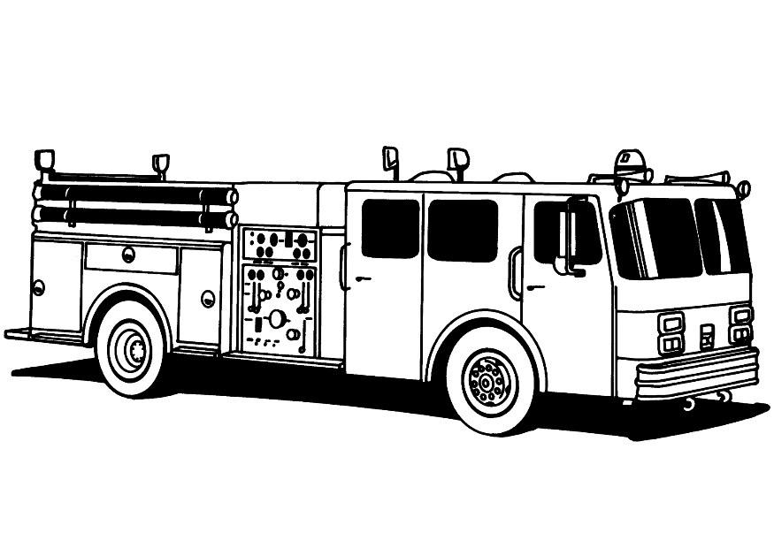 Firefighter Coloring Page Popular Fire Truck