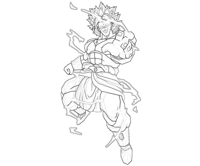 Broly Coloring Page