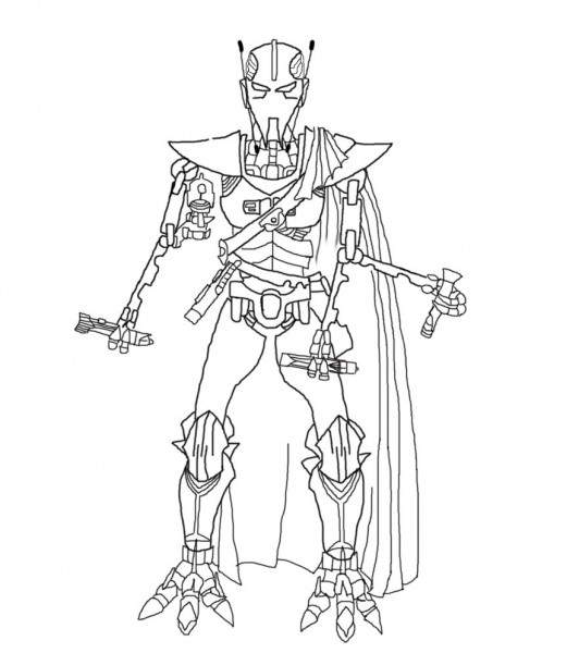 General grievous coloring page coloring home for General grievous coloring page