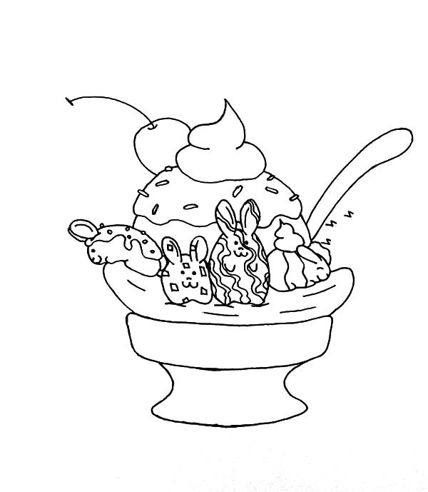 Banana Split Coloring Page Az Coloring Pages Banana Split Coloring Page