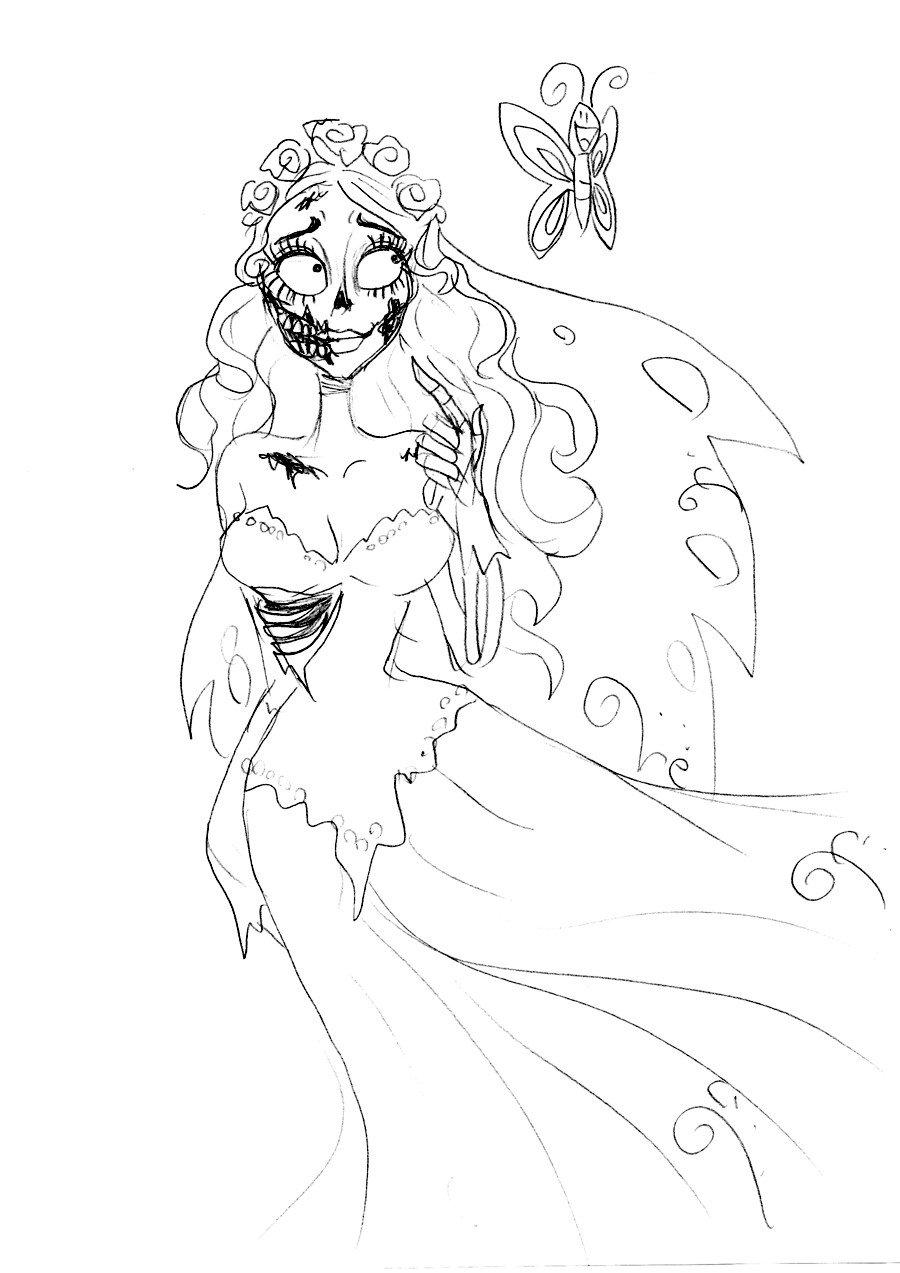 corpse bride coloring pages az coloring pages