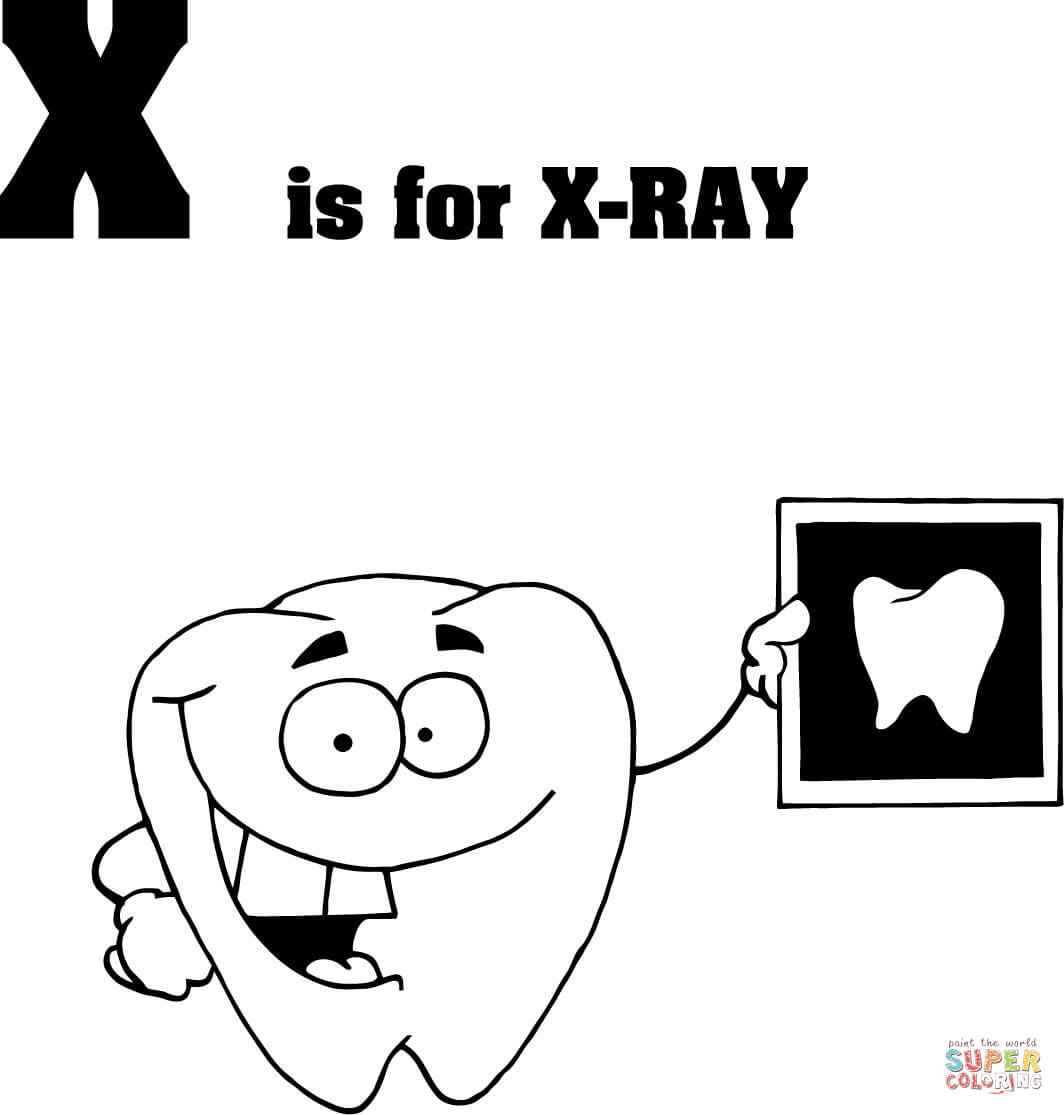 X Ray Coloring Pages Coloring