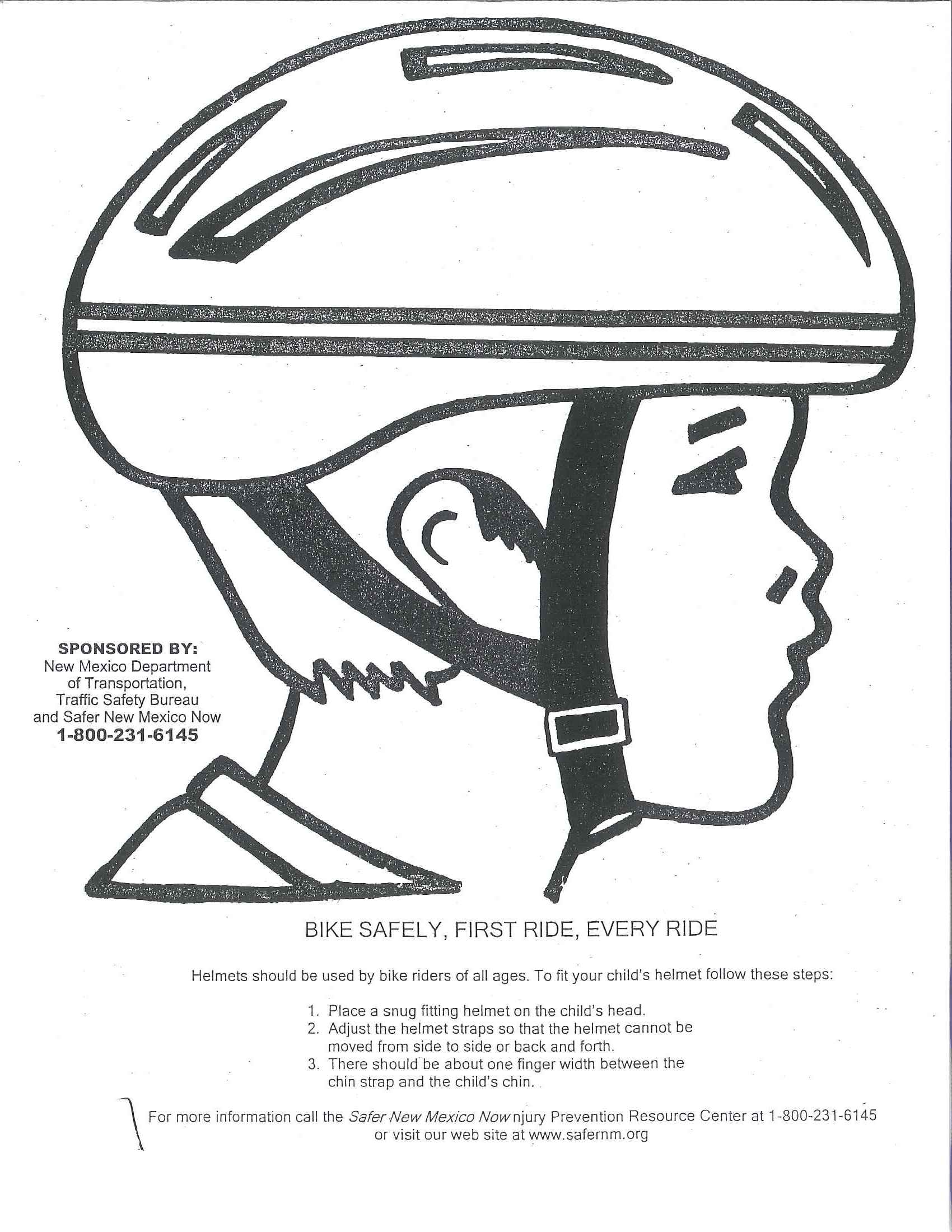 bicycle helmet coloring pages - photo#5