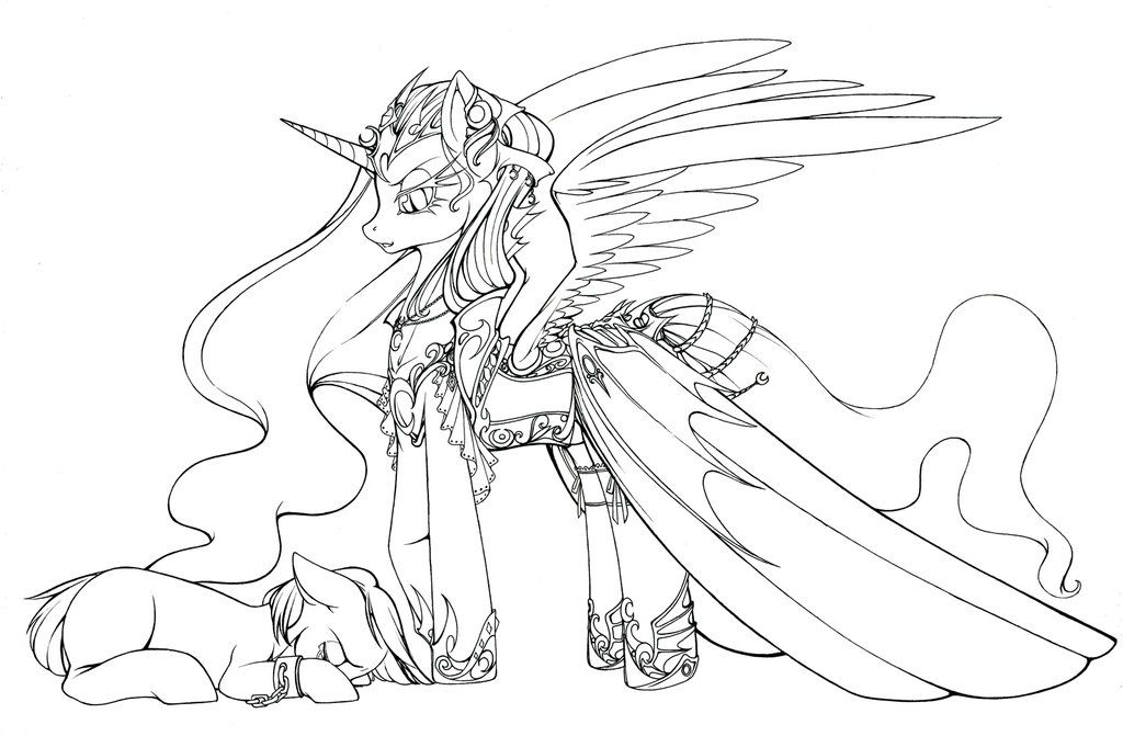My Little Pony Coloring Pages Nightmare Moon : Nightmare moon coloring pages home