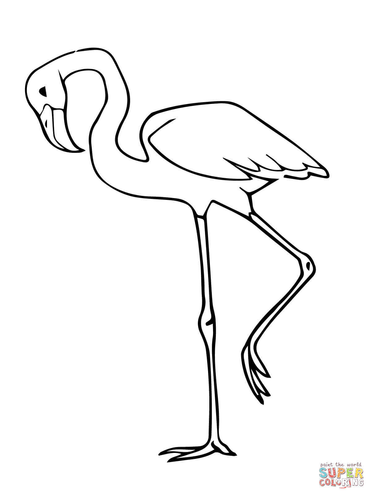 Flamingo Coloring Page Coloring