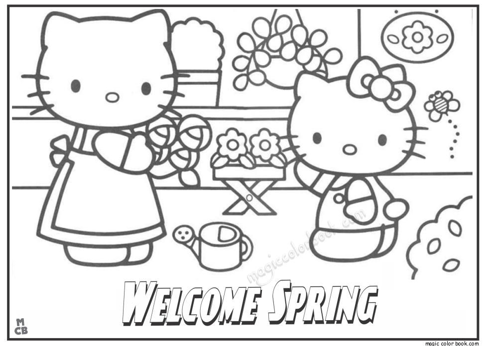 Spring Break Coloring Page - Coloring Home