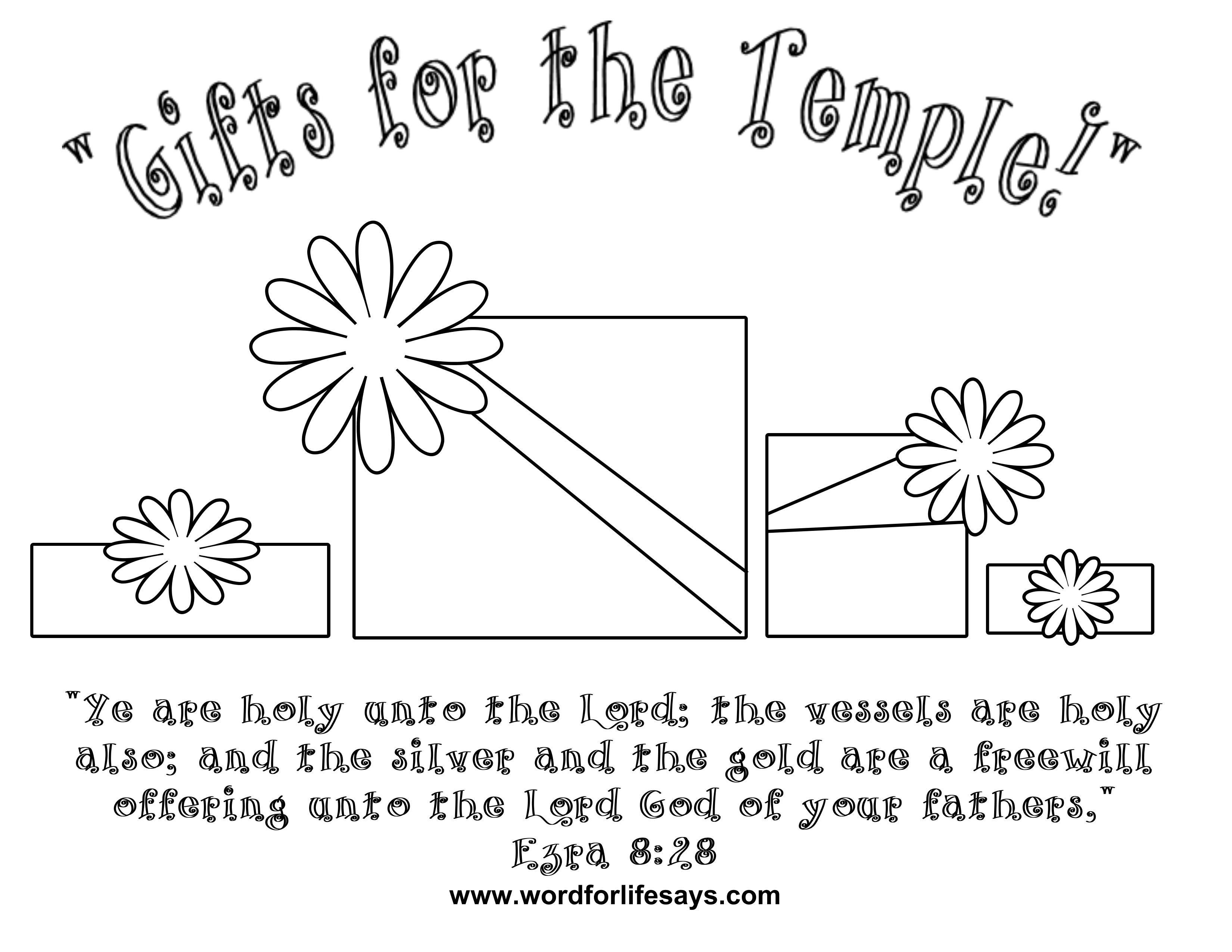 God Loves A Cheerful Giver Coloring Page