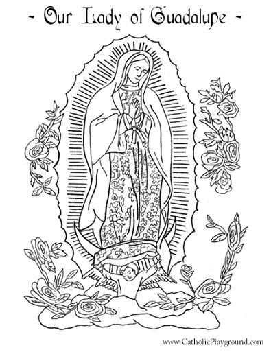 Virgen De Guadalupe Coloring Pages Coloring Home De Guadalupe Coloring