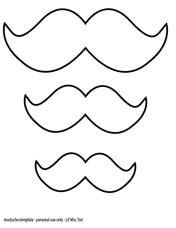 mustache coloring page - mustache coloring pages coloring home