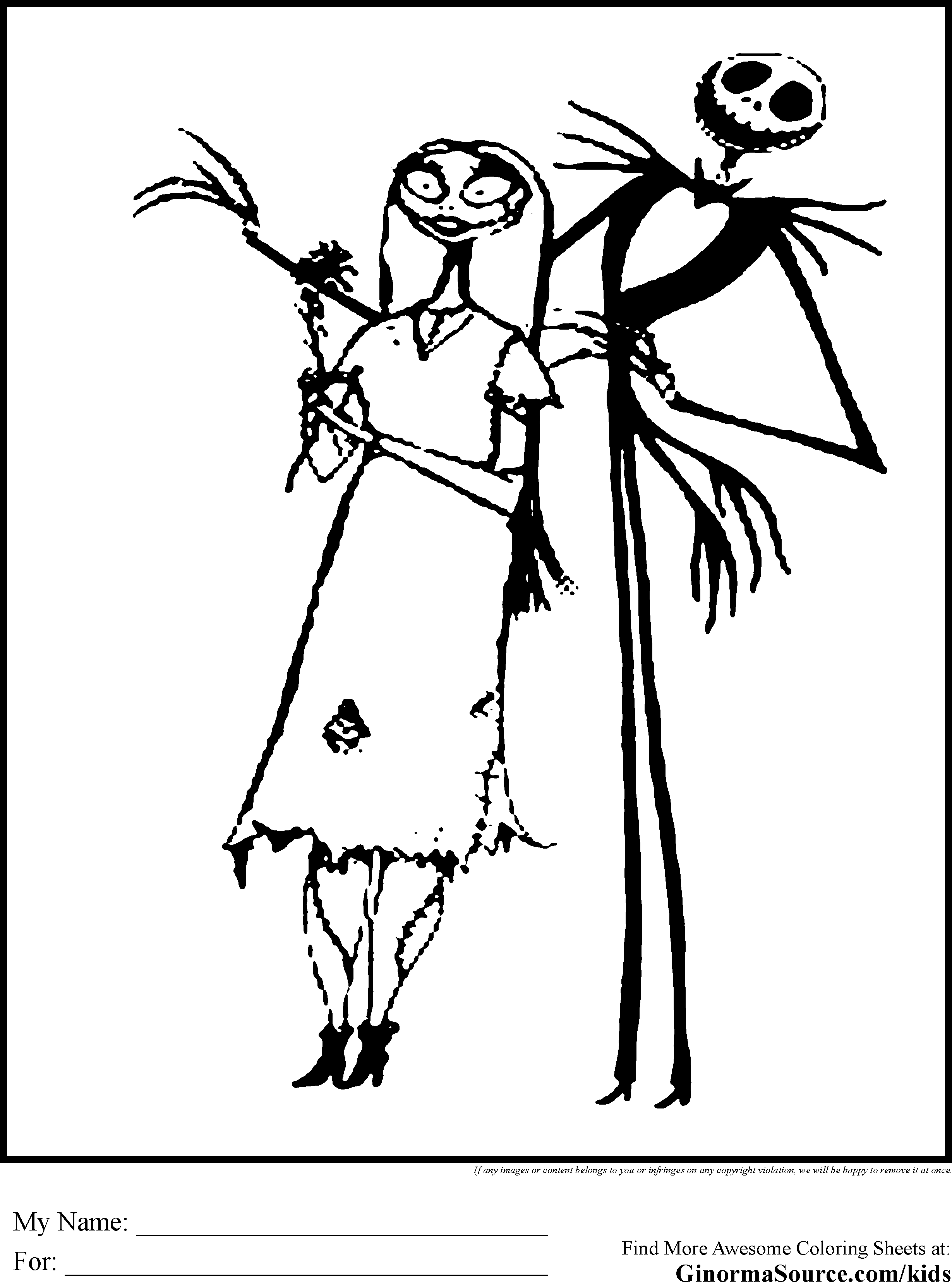 Boogie Man Nightmare Before Christmas Coloring Pages