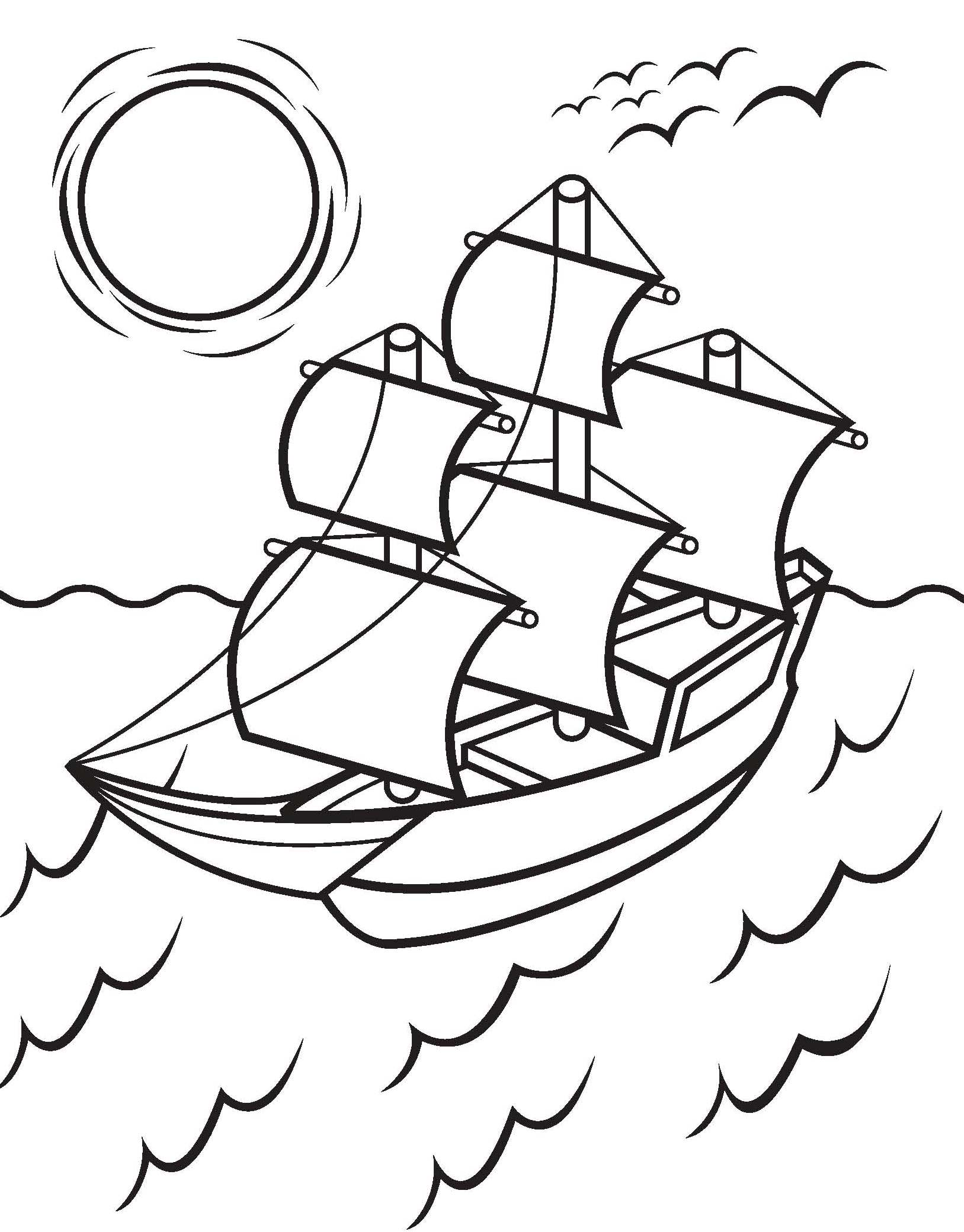 Mayflower Coloring Page Coloring