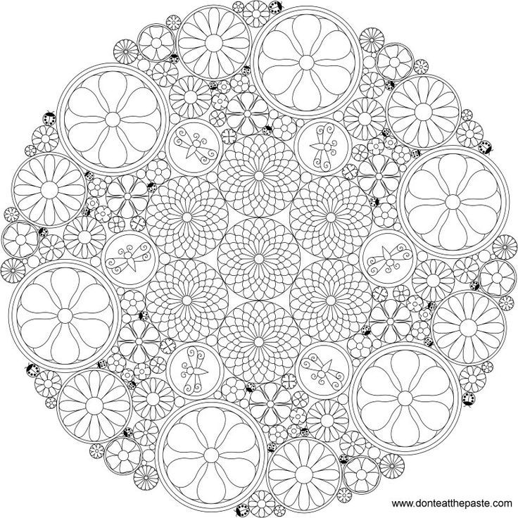 14 Pics Of Difficult Mandala Flower Coloring Pages Hard