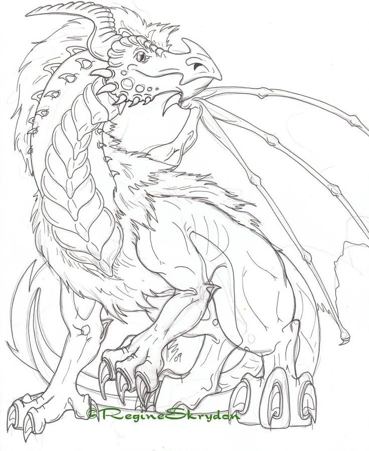 Free Cool Dragon Coloring Pages